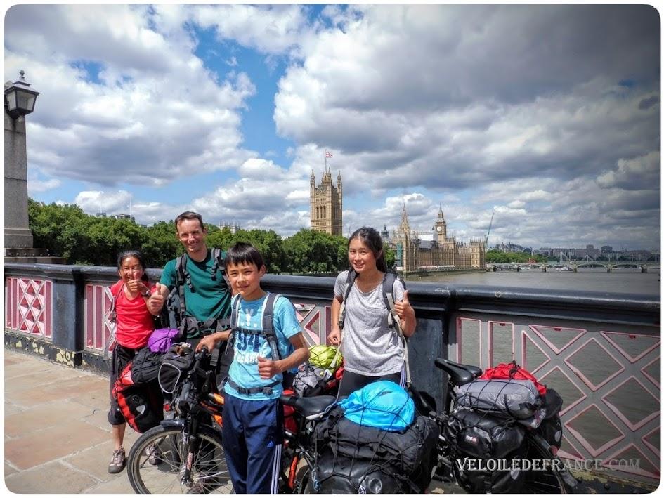 L'Arrivée à Londres - Paris-Londres à vélo avec veloiledefrance.com