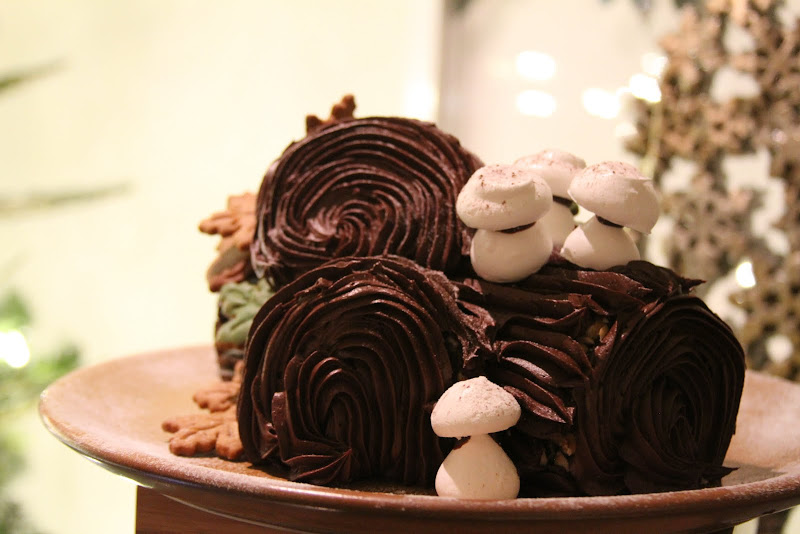 Buche de Noel. Texas Hotels Rustle Up Some Grub for Holidays - here, at La Cantera Hill Country Resort SweetFire Kitchen restaurant