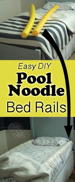 Easy DIY Pool Noodle Bed Rails