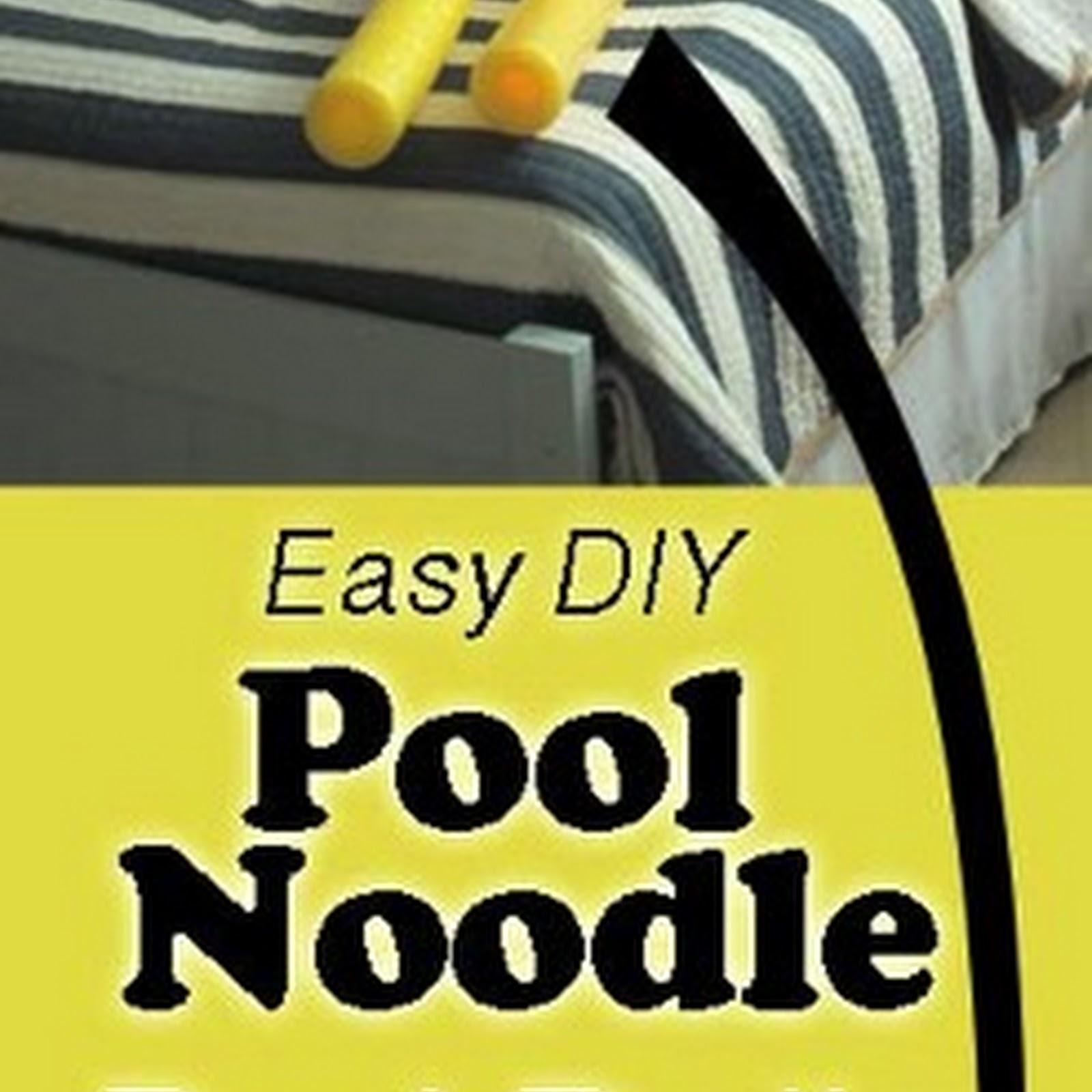 DIY Toddler Bed Rails from Pool Noodles