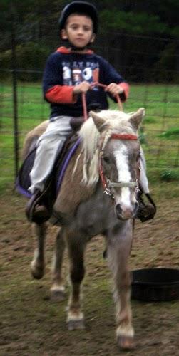Dreyson riding Bit