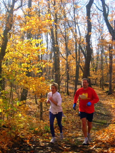 Steve and Anne Quam on Lucky's Loype during the Pumpkin Run