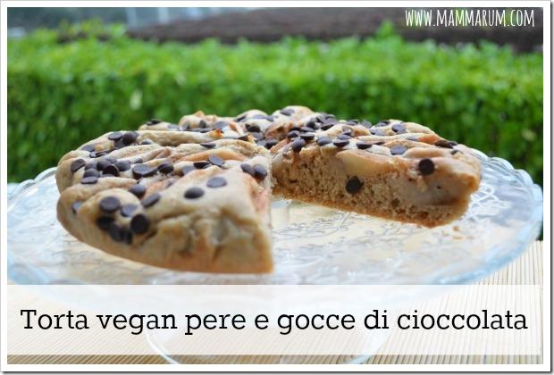 torta pere e cioccolata vegan