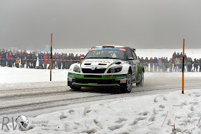 Jan Kopecky (CZE) Pavel Dresler  (CZE) Skoda Fabia S2000, Skoda Motorsport   European Rally Championship.  2013 R1. Courtesy of the FIA ERC