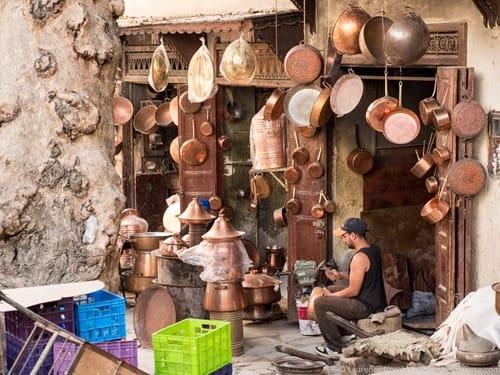 Pot maker Fez Morocco