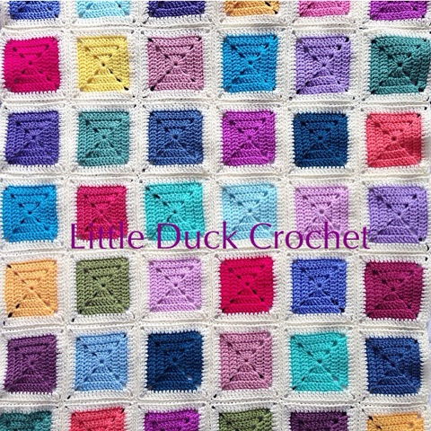 how to put together a granny square blanket