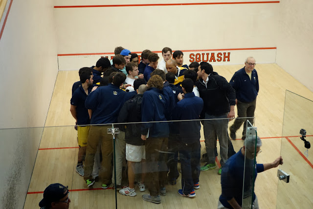 The Trinity team held their season ending huddle after the matches.