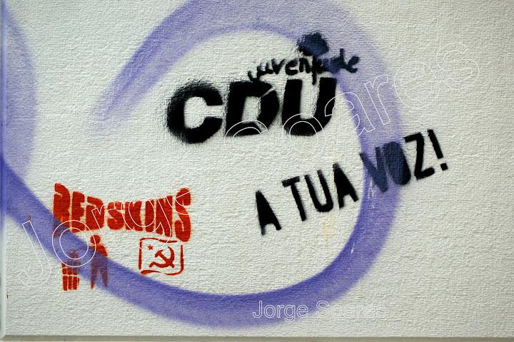 Vandalismo Politico em Setúbal