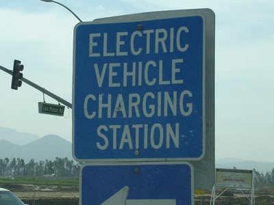 Electric vehicle EV charge station sign