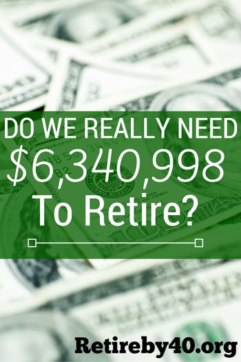 Do we really need $6 million to retire?