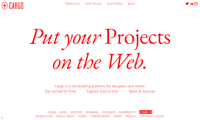 Plataforma de construção de sites para designers e artistas