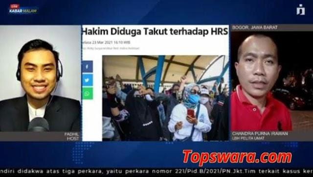 Persidangan Online Kasus HRS, LBH Pelita Umat: Tidak Ada dalam KUHAP