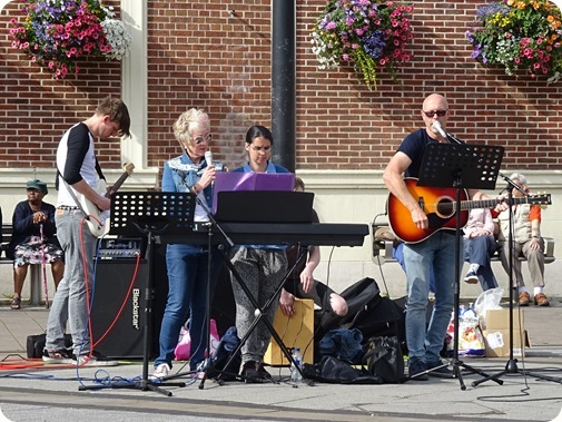 Hope Church worship group perform  on Crewe Town Square
