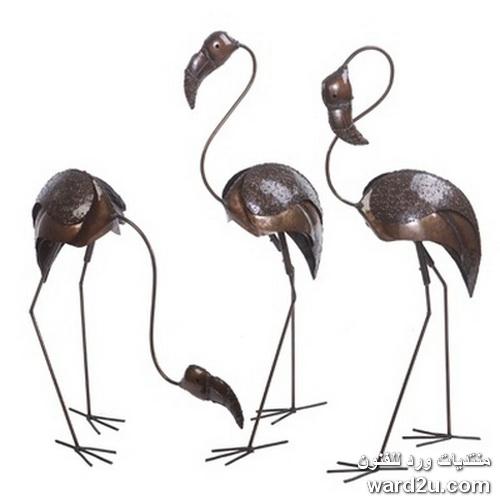 طيور و حيوانات من النحت المعدني الافريقي