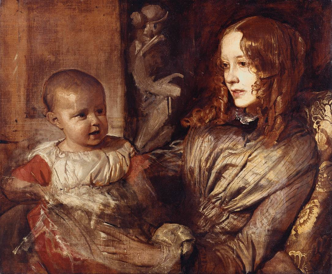 Alfred Stevens - Mrs Elizabeth Young Mitchell and her Baby