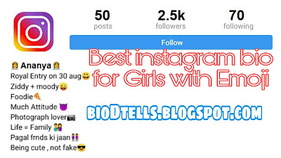 Best bio for Instagram for girls