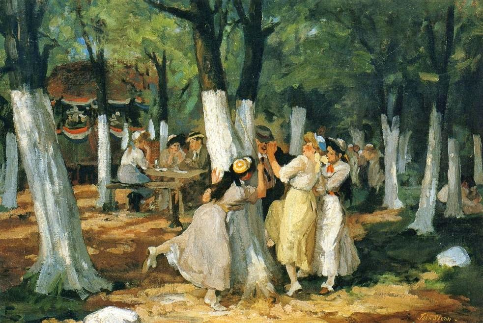 John Sloan - The Picnic Grounds