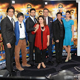 WWW.ENTSIMAGES.COM -  Sonu Sood, Vivaan Shah, Abhishek Bachchan, Director Farah Khan,  Boman Irani, Shah Rukh Khan and Deepika Padukone     at    Happy New Year-SLAM Photo Call at The Montcalm Marble Arch, London October 5th 2014Conference to mark this year's biggest Bollywood film release and the most spectacular, Bollywood live event of the decade respectively, both featuring the industry's most celebrated luminaries. Happy New Year is produced by Red Chillies Entertainments Pvt Ltd and distributed worldwide by Yash Raj Films, releasing on 23rd October.                                                    Photo Mobis Photos/OIC 0203 174 1069