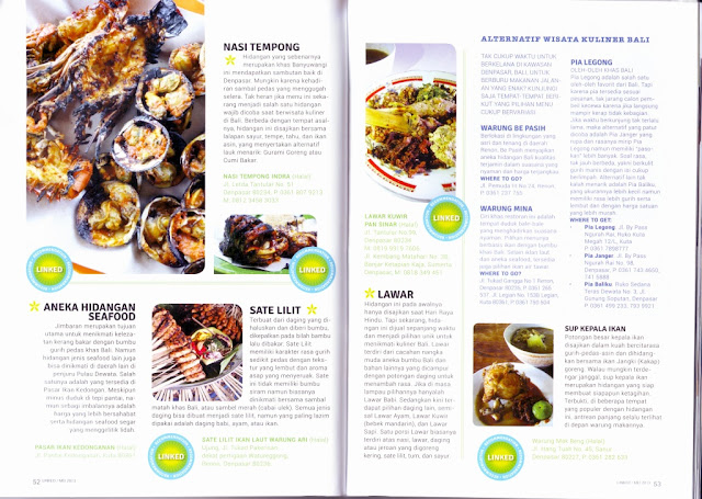 Kuliner Bali Semarak di Lidah dan Perut on Linked Citilink inflight Magazine - spread 2