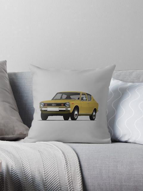 Datsun 100A - autoaiheinen sisustustyyny