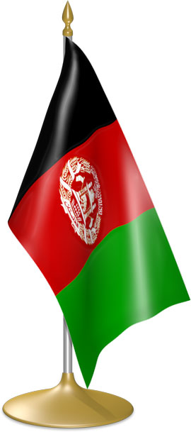 Afghan table flags - desk flags
