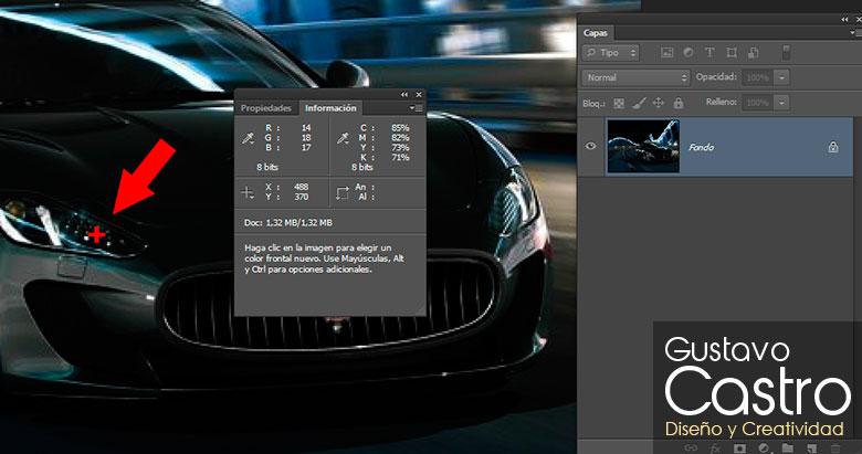 Uso de cuentagotas en Photoshop