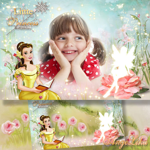 Photoframe for Girls - Little Princess, Fairy Grants Desire
