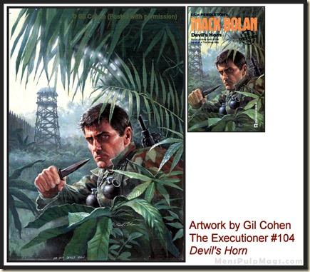 Executioner #104, art by Gil Cohen, MensPulpMags.com