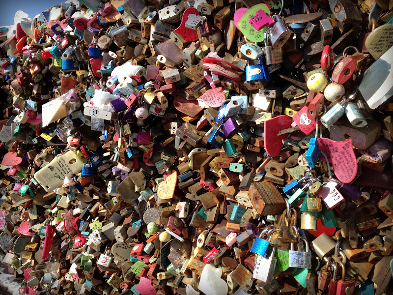 The many padlocks left behind at Seoul Tower