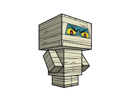 Cubee Mummy Paper Toy