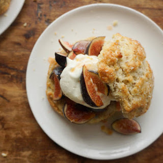 Honeyed Fig Shortcakes with Hazelnut Biscuits