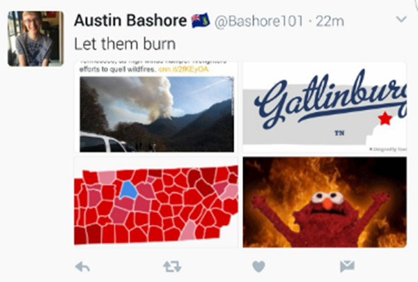 tennessee tweets fire