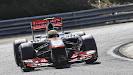 Sergio Perez racing his McLaren MP4-28