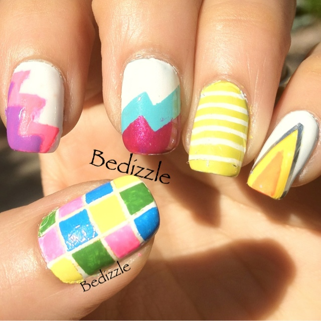 Another Bright Tape Manicure Your Own Nail Art