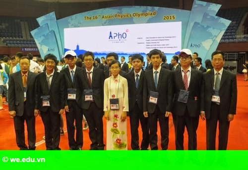 Hình 1: Việt Nam giành hai huy chương vàng Olympic Vật lý châu Á