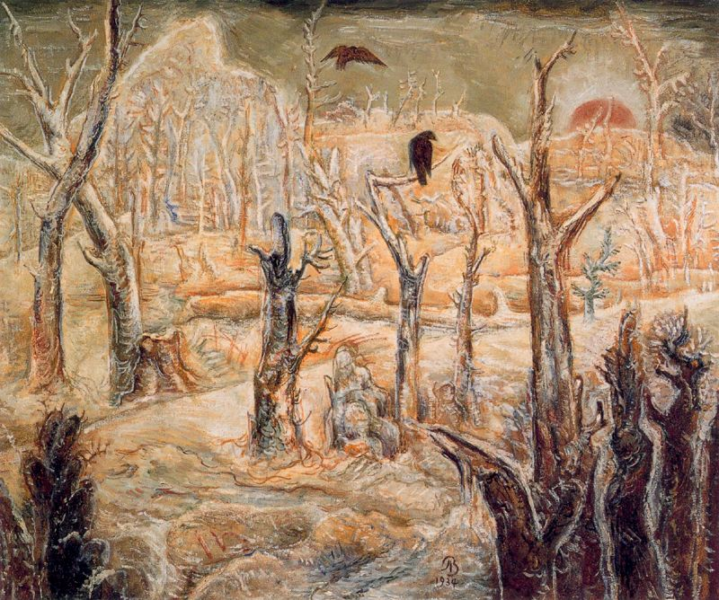 Albert Bloch - Winter in the Dead Wood