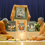 Swamis Brahmarupananda and Atmajnanananda perform Sri Ramakrishna Puja