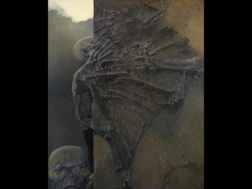 Zdzislaw Beksinski Demon, Death