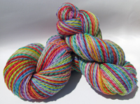 Renee's 12 Color Rainbow on Licorice Twist Worsted/DK - Trim Option & Penny Ship
