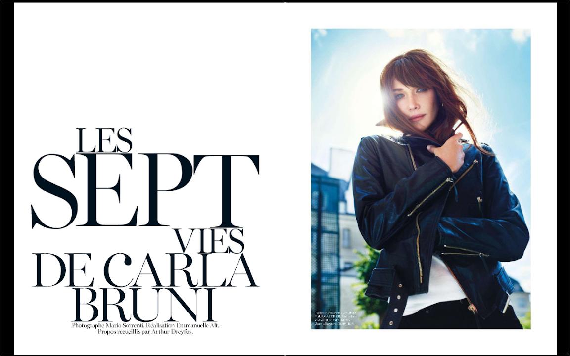 Vogue paris 933 carla bruni yasmin le bon malgosia bela for Carla bruni le ciel dans une chambre
