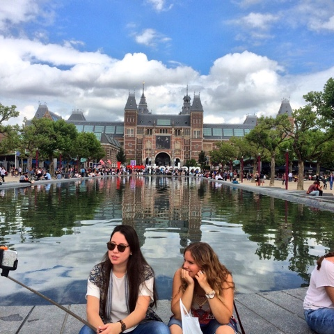 Museumplein is selfie central in Amsterdam!