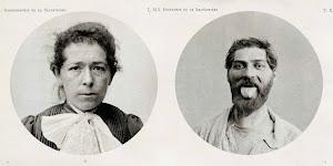 2 portretfoto's: een vrouw en een man met uitgestoken tong