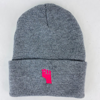 Housing Works Pink Fist-Grey Hat