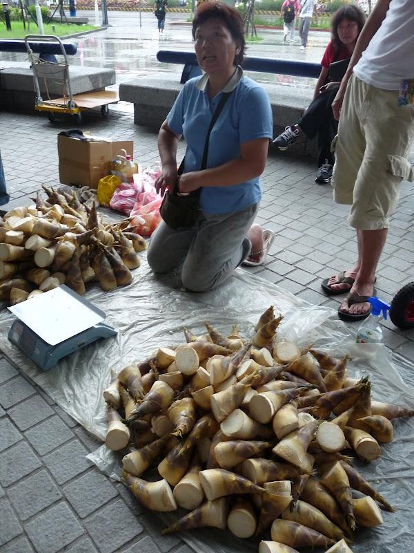 pousses de bambous,en descendant du train à Sijhih