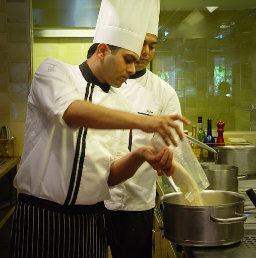 Pushpender Making Risotto