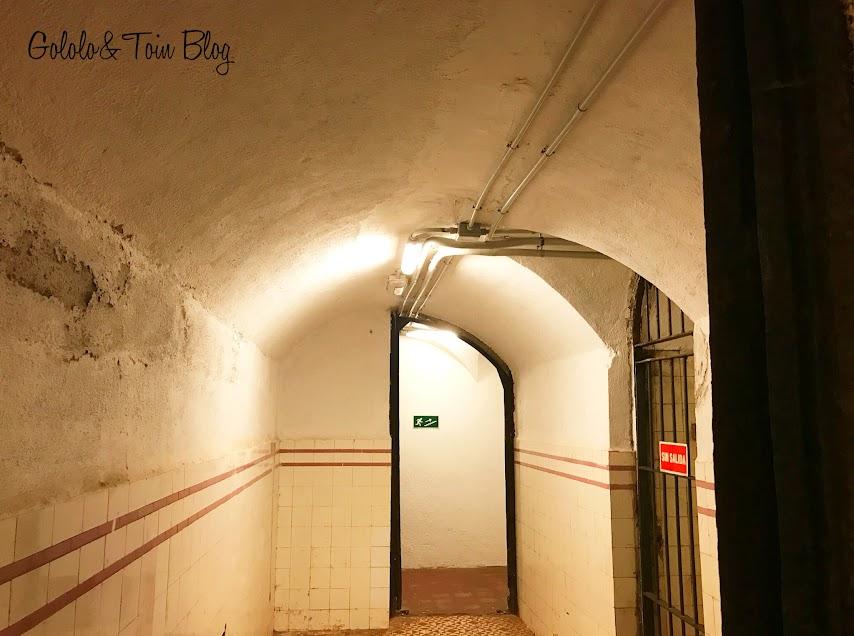 Interior del búnker de El Capricho
