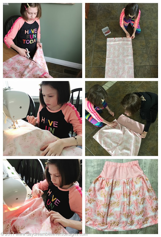 Kids can sew. How to make a twirl skirt