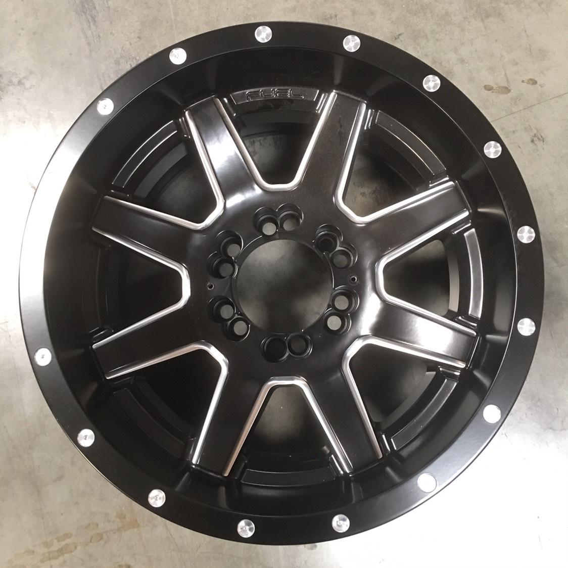 Used 17x10 Fuel D538 Maverick 6x135/6x139.7 -12 Black