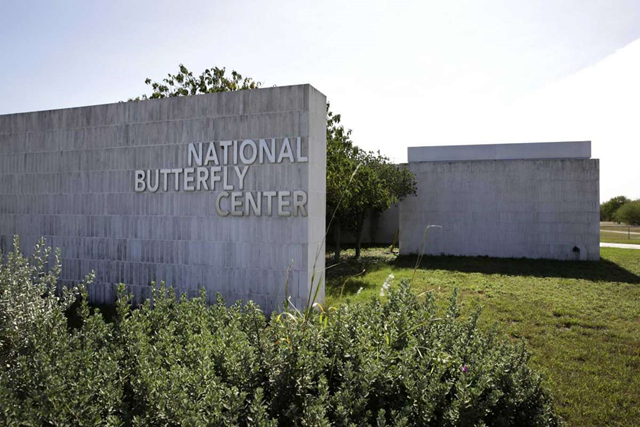Entrance to the National Butterfly Center near Mission, TX. Plans are for Trump's border wall to be built along the levee that will cut The National Butterfly Center in half. Photo: Bob Owen / San Antonio Express-News