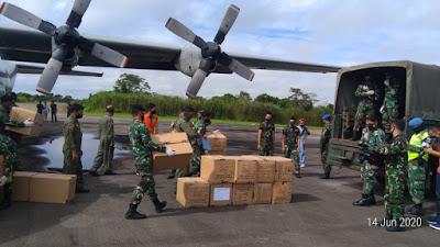 Tiba di Kalbar, Kodam XII/Tpr Langsung Salurkan Bantuan APD Kemenkes RI ke Dinkes